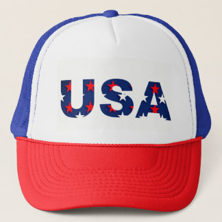 USA America Stars Red White Blue Patriotic Hat