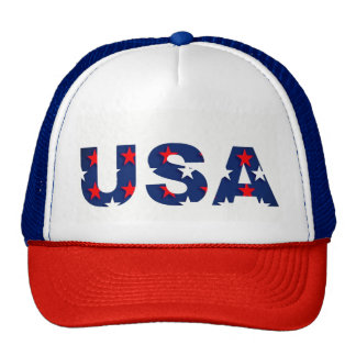 USA America Stars Red White Blue Patriotic Hat