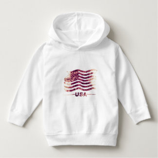 USA America Toddler Pullover Hoodie