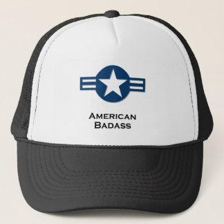 USA American Badass blue Trucker Hat