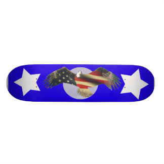 USA American Bald Eagle flag fade Custom Skateboard