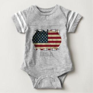 usa american flag baby bodysuit