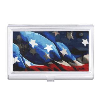 USA American Flag Business Card Holder