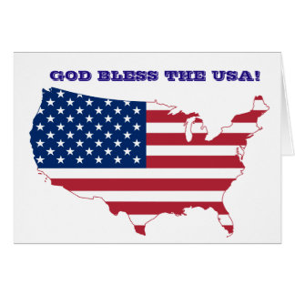 USA American Flag CUSTOMIZE Card