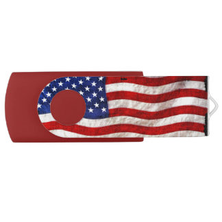 USA American Flag Designer USB Flash Drive