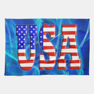 USA AMERICAN FLAG HAND TOWELS
