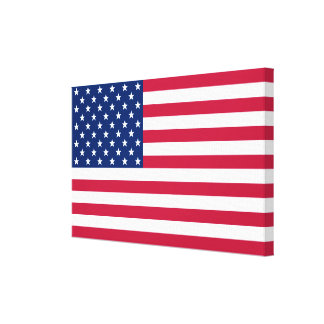 USA American Flag Home Office Decor Wrapped Canvas