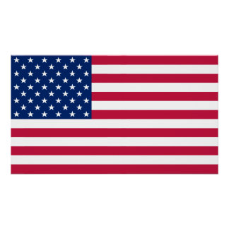 USA American Flag Patriotic Home Office Decor US Poster