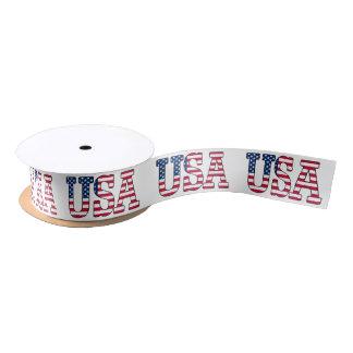 USA American Flag Patriotic Red White Blue Ribbon Satin Ribbon