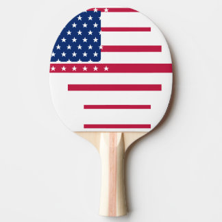 USA American Flag Patriotic Table Tennis Ping Pong Ping Pong Paddle