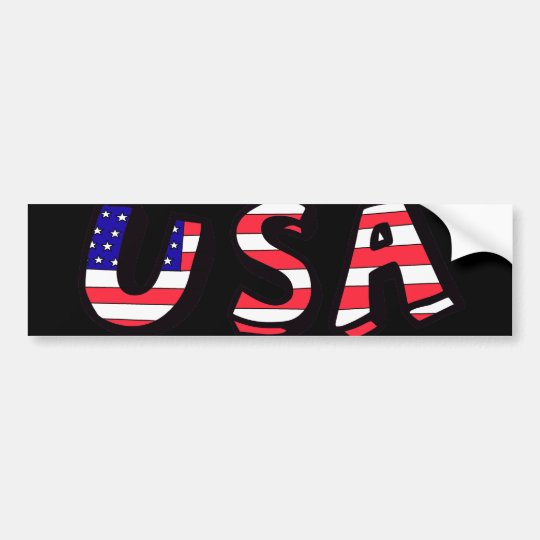 USA American Flag Red White Blue Bumper Sticker