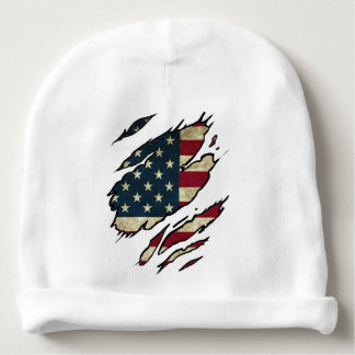 usa american flag spot ripped baby beanie