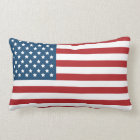 USA American Flag Stars and Stripes Lumbar Pillow