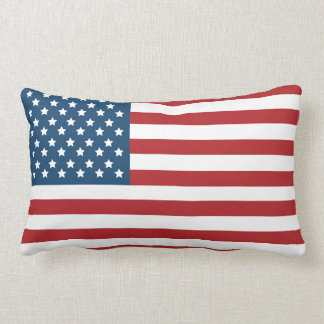 USA American Flag Stars and Stripes Lumbar Pillow