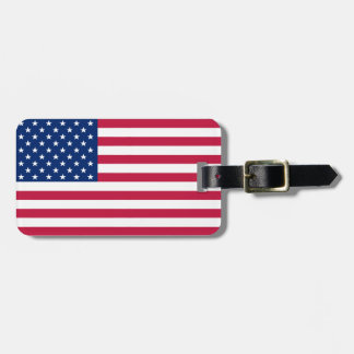 USA American Flag Stars Patriotic Luggage Bag Tag