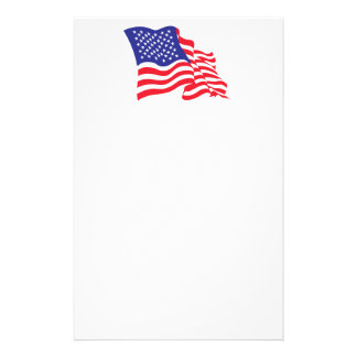 USA/American Flag Stationery
