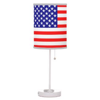 USA American Flag Table Lamp