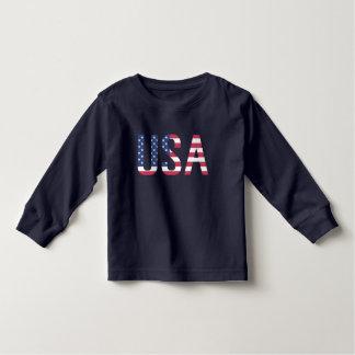 USA American Flag Text White Star Red Blue Stripe Toddler T-shirt