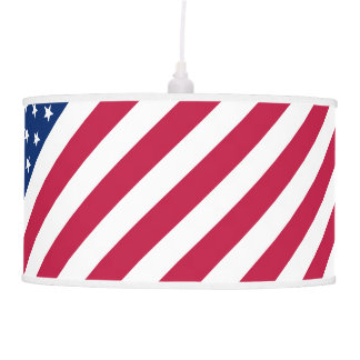 USA American Patriotic Room Decor Hanging Lamp