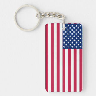 USA American Patriotic Stars Stripes Flag Keychain