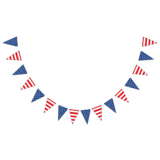 USA American Stars and Stripes. Bunting Flags