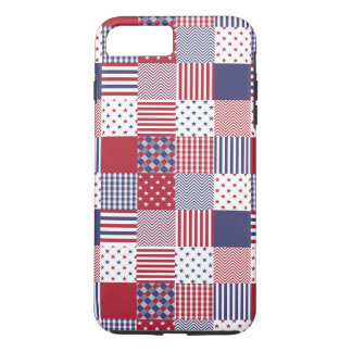 USA Americana Patchwork Red White & Blue iPhone 7 Plus Case
