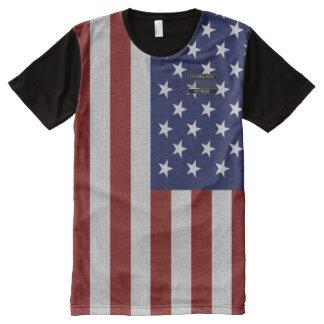 USA America's Flag Blue Star Red Striped T-Shirt