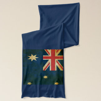 USA and Australia Flag Long Cotton Scarf