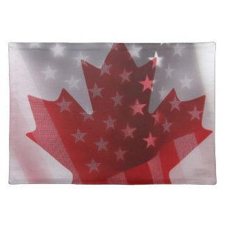 USA and Canada flags placemat