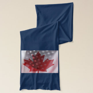 USA and Canada flags scarf