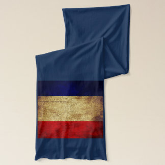 USA and France Flag Long Cotton Scarf