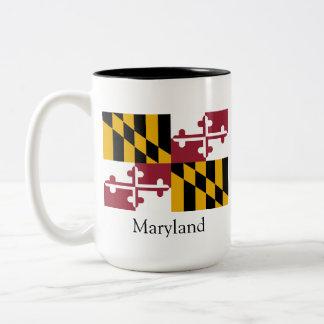 USA and Maryland Two-Tone Coffee Mug