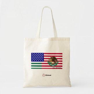 USA and Mexico Tote Bag