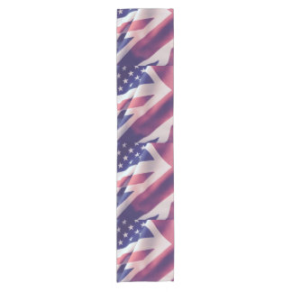 USA and UK flags Short Table Runner
