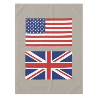 USA and UK Flags Tablecloth