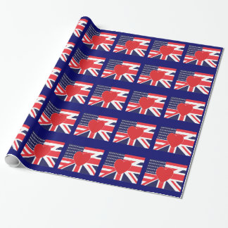 USA and UK Love Wrapping Paper