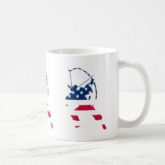 USA Archery American archer flag Coffee Mug
