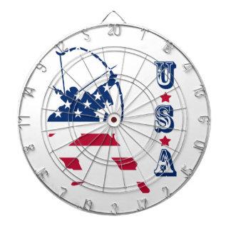 USA Archery American archer flag Dartboard
