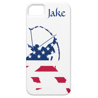USA Archery American archer flag iPhone 5 Cases