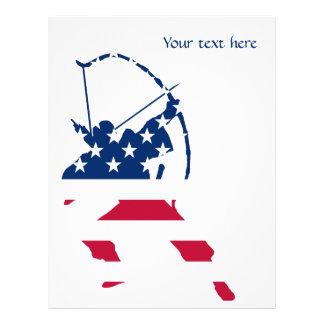 USA Archery American archer flag Letterhead