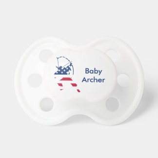 USA Archery American archer flag Pacifier