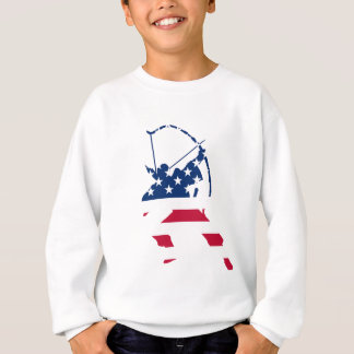USA Archery American archer flag Sweatshirt