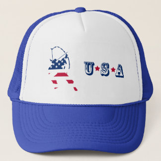 USA Archery American archer flag Trucker Hat