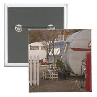USA, Arizona, Bisbee: Shady Dell Motel, All 2 Inch Square Button
