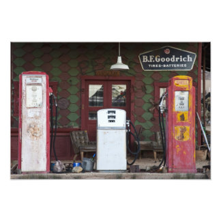 USA, Arizona. Chloride Ghost Town, old gas Photo Art