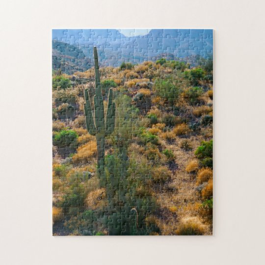 USA, Arizona. Desert View Jigsaw Puzzle