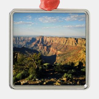 USA, Arizona, Grand Canyon National Park, View Silver-Colored Square Ornament