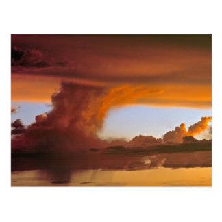 USA, Arizona, Grand Canyon NP. Sunset creates Postcard