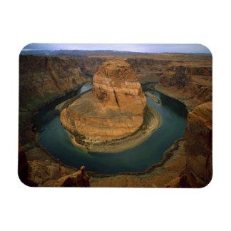 USA, Arizona. Horseshoe Bend showing erosion by Rectangular Photo Magnet