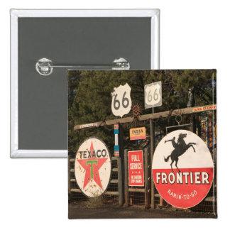 USA, Arizona, Sedona: Antique Advertising Signs 2 Inch Square Button
